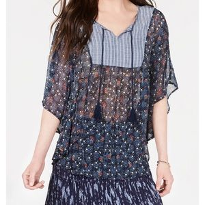 Boho Floral Peasant Top-NWT-MEDIUM